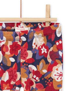 Pantaloni con stampa a fiori neonata MIFUNPAN / 21WG09M1PAN070