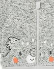 Cardigan grigio melange neonato LUJOGIL4 / 21SG1034GILJ906