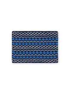 Scaldacollo blu motivo jacquard bambina MYOGROSNO5 / 21WI0267SNO221