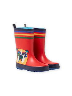 Stivali da pioggia con motivi cani MOPLUICHIEN / 21XK3611D0C050