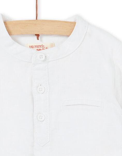 Camicia bianca neonato LUBALCHEM / 21SG10O1CHM000
