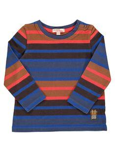 Baby boys' striped long-sleeved T-shirt DUCHOTEE3 / 18WG10F3TML099