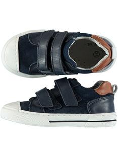 Sneakers pelle navy bambino GGBASJO / 19WK36I9D3F070