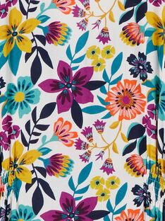 Abito stampa fiori colorati donna LAMUMROB1 / 21S993Z1ROB009