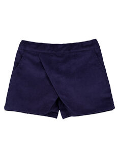 Shorts effetto gonna in velluto GAMUSHORT / 19W901F1SHO070