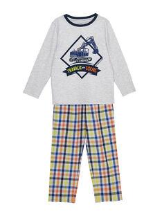 Pigiama in jersey bambino e pantaloni in popeline a quadri JEGOPYJTRA / 20SH1223PYJJ920