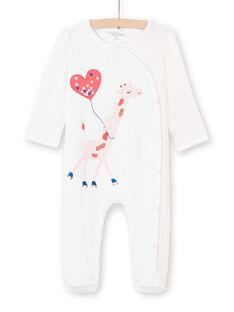 Tutina ecrù stampa a righe e pois neonata MEFIGREGIR / 21WH1332GRE001