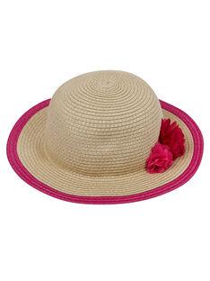 Cappello di paglia bambina con fiori JYAWEHAT2 / 20SI0192CHA009