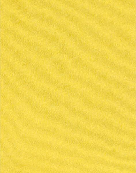 T-shirt gialla in cotone neonato LUNOTEE2 / 21SG10L2TML106