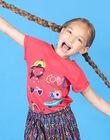 T-shirt a maniche corte rossa bambina LAHATI1 / 21S901X1TMCF506
