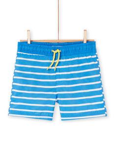 Costume shorts blu e bianco bambino LYOMERBOXEX / 21SI02DBMAIC238