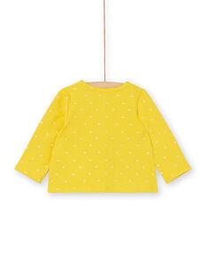 Cardigan giallo e dorato con stampa cuori neonata LIJOCAR2 / 21SG0943CAR106