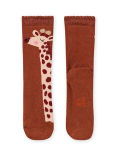 Calze con motivi giraffe bambina MYACOMCHO / 21WI01L1SOQ420
