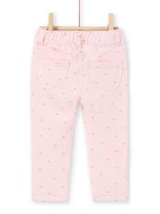 Pantaloni rosa con motivi glitter LIJOPAN2 / 21SG0932PAND326