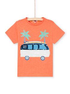 T-shirt arancione fluo bambino LOBONTI2 / 21S902W5TMCE411