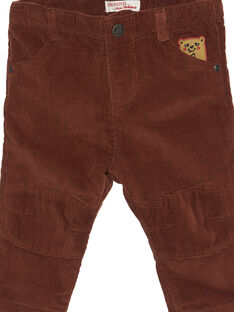 Pantaloni velluto cannella neonato GUBRUPAN2 / 19WG10K2PAN809