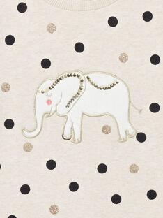 Felpa maniche lunghe, stampa pois e patch elefante LAPOESWEA / 21S901Y1SWE001