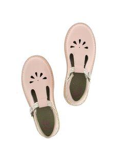 Girls' leather T-bar shoes CFSALSIE2 / 18SK35W2D3H030