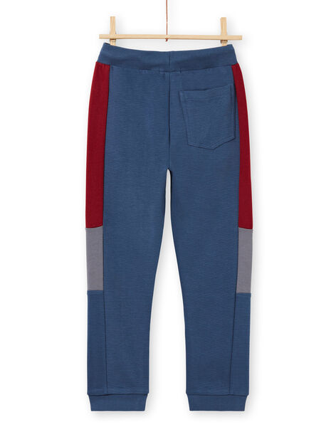 Pantaloni sportivi navy e rossi bambino MOPAJOG / 21W902H1JGB219