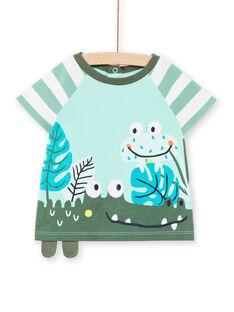 T-shirt turchese neonato LUVERTI1 / 21SG10Q1TMCG621