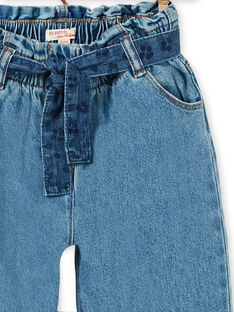 Jeans paper bag e cintura blu in cotone LABLEJEAN / 21S901J1JEAP274