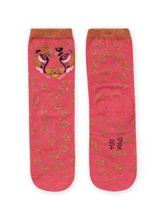 Calze rosa e dorate leopardate bambina MYAKACHO / 21WI01I1SOQD305