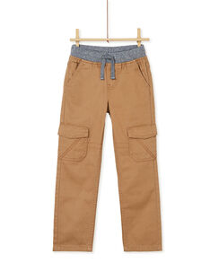 Light brown PANTS KOJOPAMAT4 / 20W9023AD2BI810