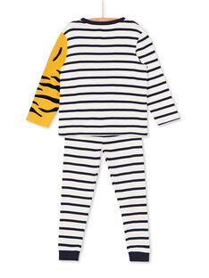 Pigiama t-shirt e pantaloni blu e bianco a righe bambino LEGOPYJBRA / 21SH1253PYJ001