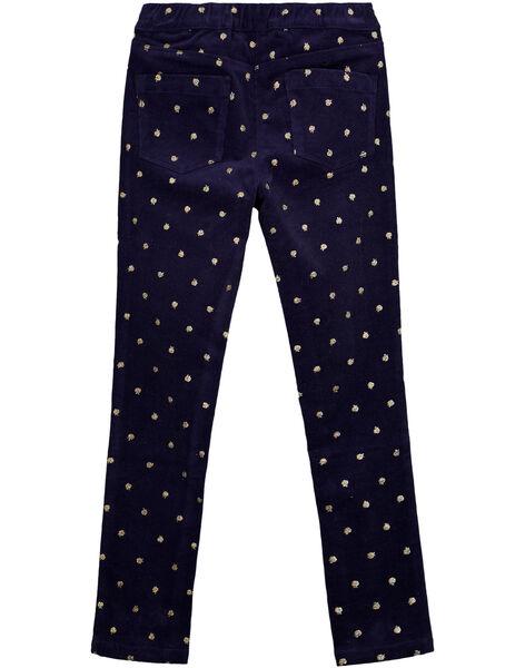 Navy pants GASANPANT / 19W901C1PAN070