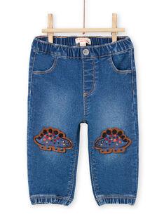 Jeans blu patch dinosauri neonato MUPAJEAN / 21WG10H1JEAP274