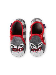 Pantofole grigie neonato GBGBOTRAT / 19WK38Z1D0A940
