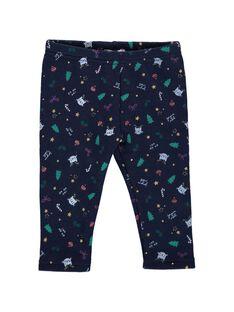 Baby girls' fleece leggings DICRAPAN / 18WG09R1PAN099