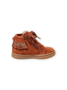 Sneakers cammello a frange neonata MIBASFRANGE / 21XK3751D3F804