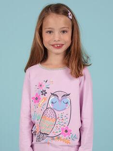 T-shirt lavanda motivo gufo fantasia bambina MAPLATEE1 / 21W901O3TML326