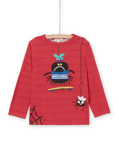 T-shirt a maniche lunghe rosso - Bambino LOROUTEE1 / 21S902K2TML330