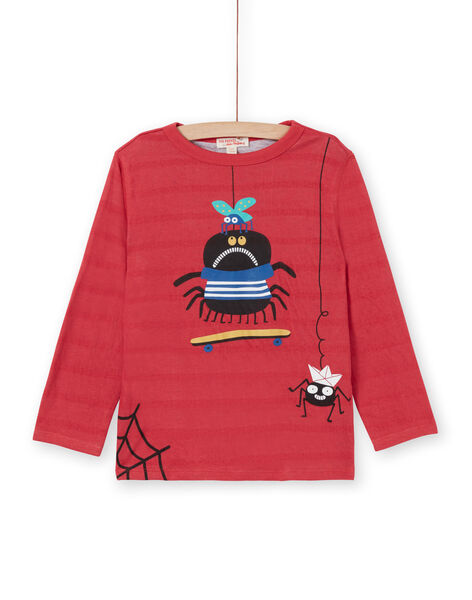 T-shirt a maniche lunghe rosso - Bambino LOROUTEE1 / 21S902K2TML330