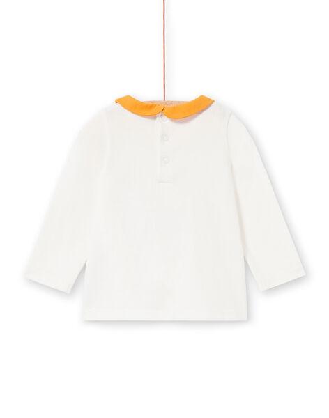 T-shirt ecrù e gialla neonata LIPOEBRA / 21SG09Y1BRA001