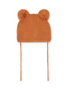 Berretto in maglia motivo orsetto neonato MYUFUNBON / 21WI1066BONI820