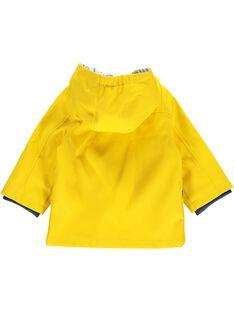 Baby boys' hooded raincoat CUKLEIMP / 18SG10D1IMP102