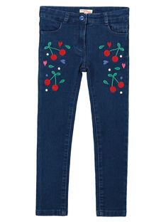 Jeans slim ricamati bambina FACOJEAN / 19S90181JEAK005