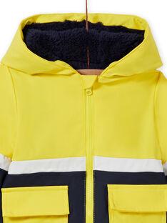 Impermeabile giallo con motivo tigre bambino MUGROIMP / 21WG1051IMP102