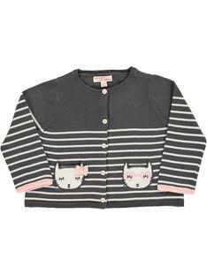 Baby girls' cotton cardigan CIBENCAR1 / 18SG09G1CAR099
