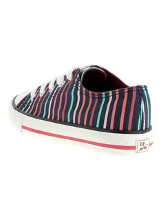 Girls' canvas trainers CFTENSTRIP / 18SK35O1D16070
