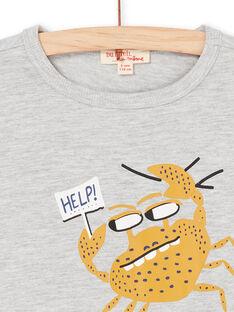 T-shirt grigio e giallo - Bambino LONAUTI3 / 21S902P1TMCJ922