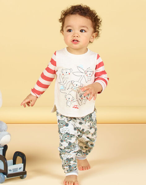 T-shirt maniche lunghe a righe neonato LUPOETEE2 / 21SG10Y2TMLA011