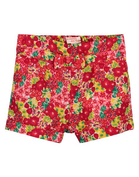 Shorts a fiori neonata FIYESHO1 / 19SG09M1SHO000