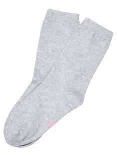 Calze bambina grigio chiaro con bordo lurex JYAESCHO4 / 20SI0161SOQ943