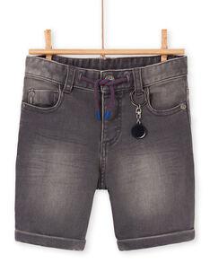 Bermuda in jeans antracite bambino LOHABER2 / 21S902X1BERK004
