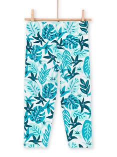 Leggings blu bambina LYAVERLEG / 21SI01Q1CAL001