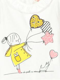T-shirt maniche lunghe neonata FILITEE / 19SG0921TML001